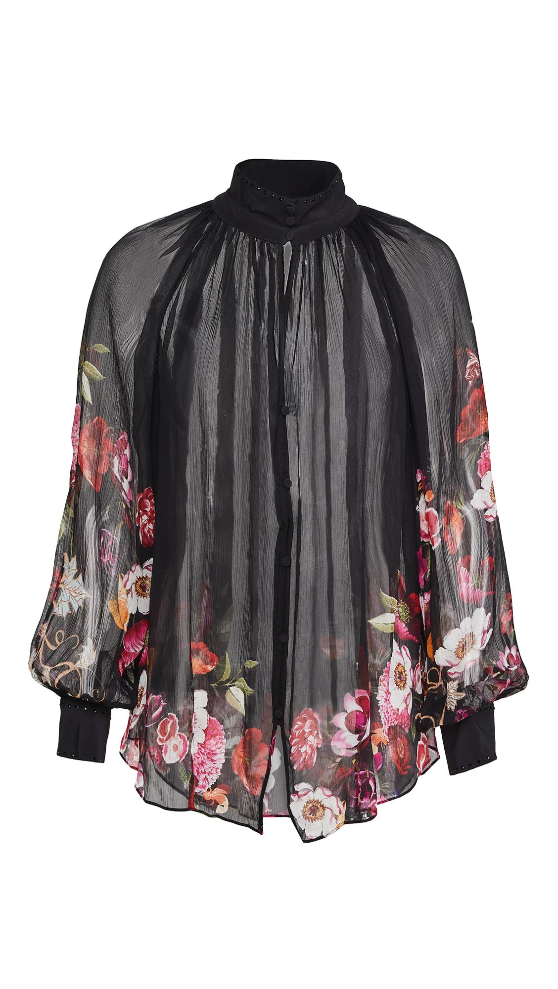 Camilla Raglan Button Up Shirt