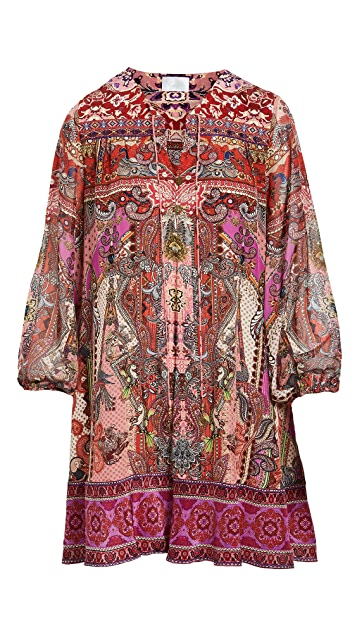 Camilla Button Up Silk Dress