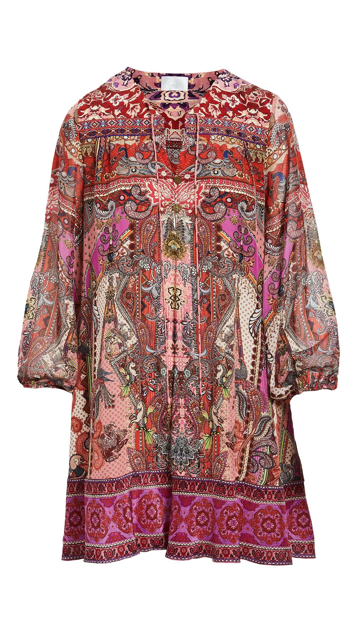 Camilla Button Up Silk Dress