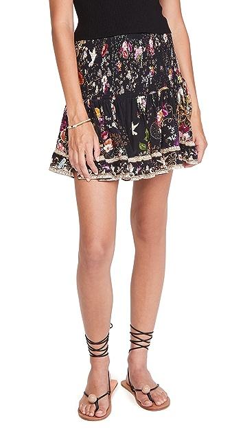 Camilla 抽褶短款半身裙