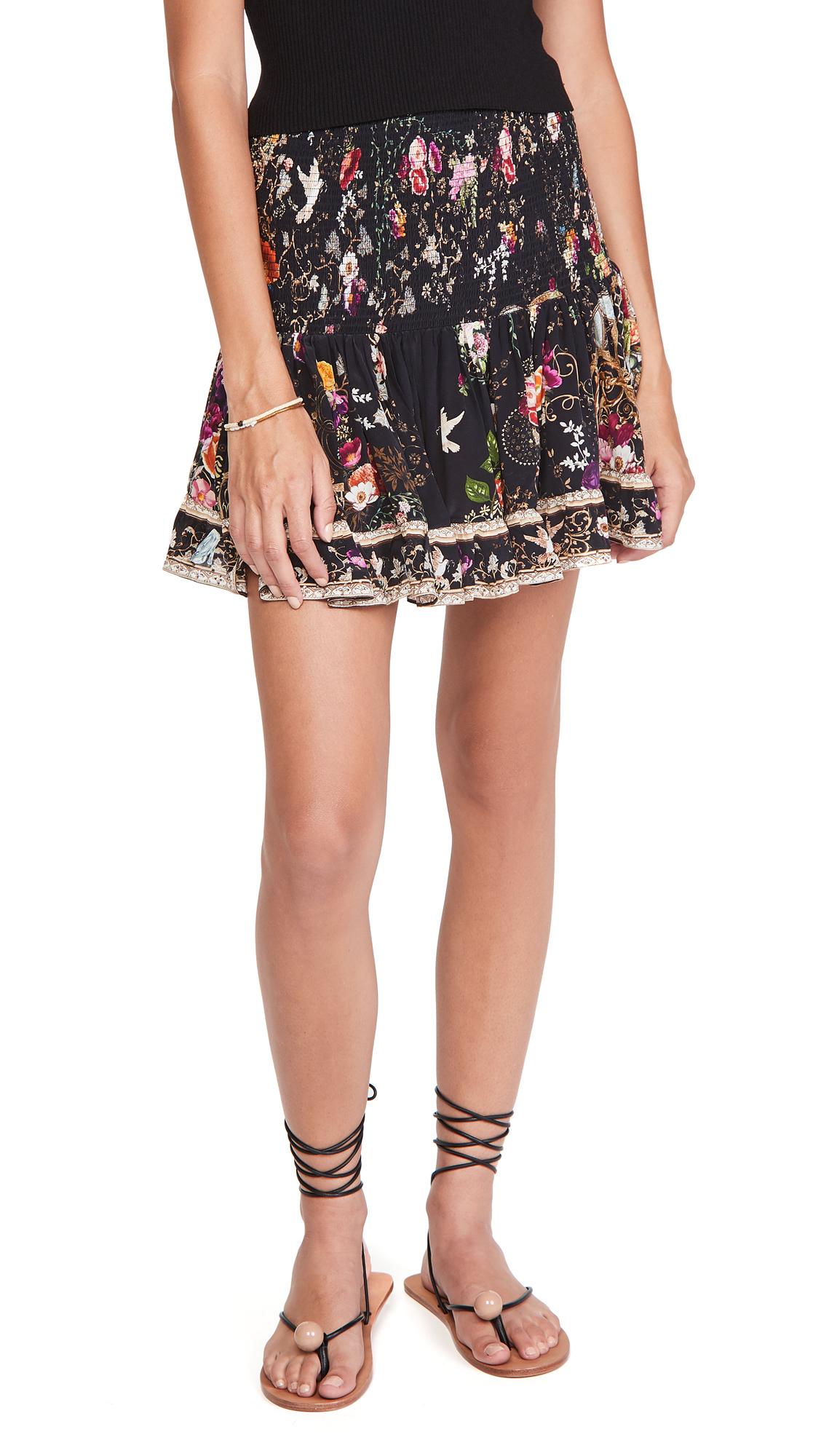 Camilla Short Shirred Skirt