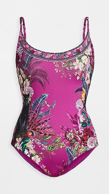 Camilla 汤匙领连体泳衣