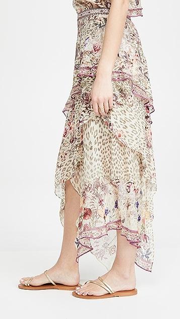 Camilla 不对称荷叶边半身裙