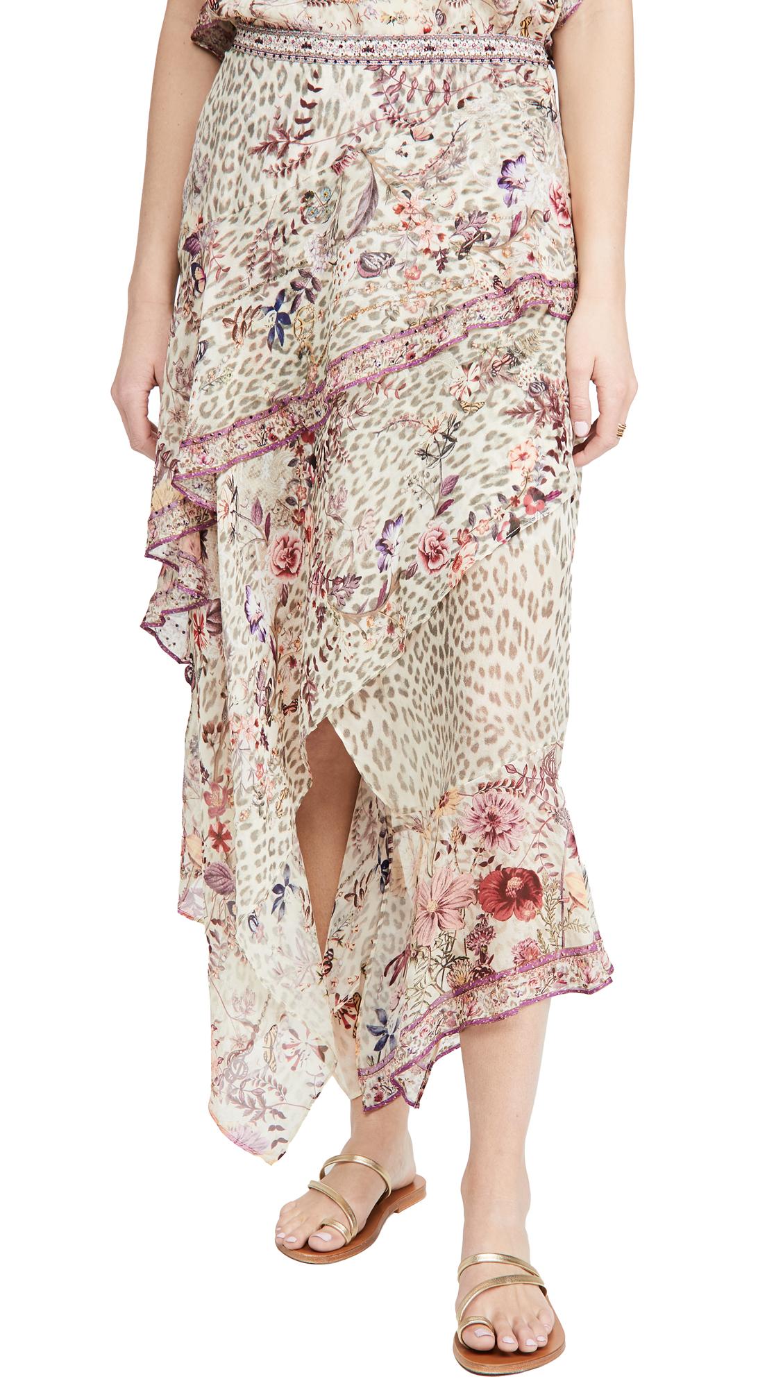 Camilla Asymmetrical Ruffle Skirt