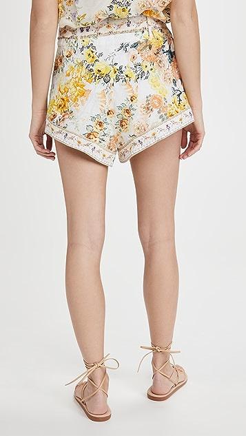 Camilla 绑带细节超短裤