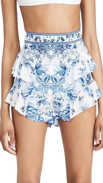 Camilla Ruffle Shorts