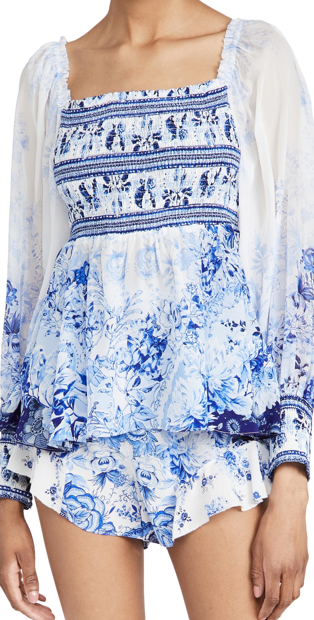 Camilla Cottons SHIRRED BODICE BLOUSE
