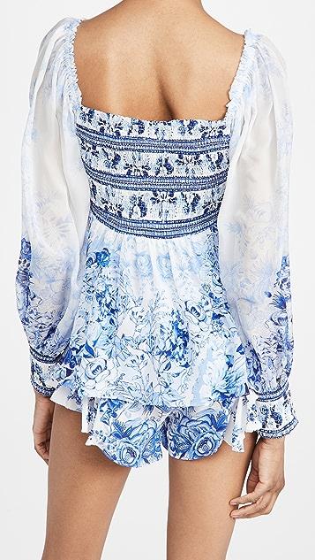 Camilla 抽褶衣身女式衬衫