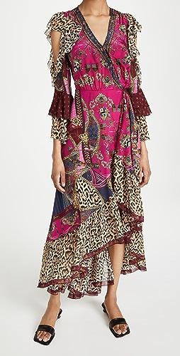 Camilla - 荷叶袖裹身连衣裙