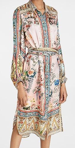 Camilla - 不对称下摆中长衬衣连衣裙