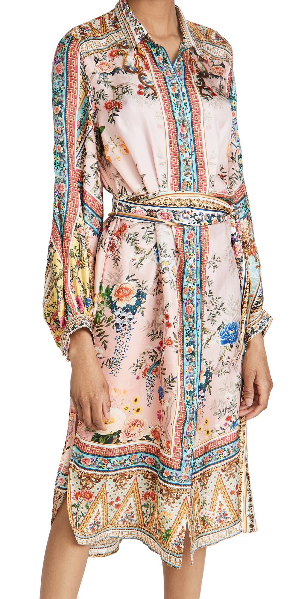 Camilla High Low Midi Shirt Dress
