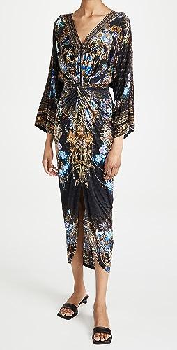 Camilla - 开衩正面扭褶长裙
