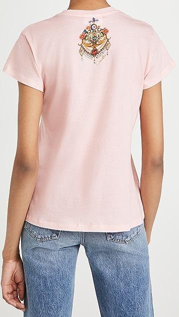 Camilla Slim Fit Round Neck T-Shirt