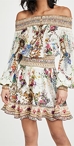 Camilla - 露肩短连衣裙