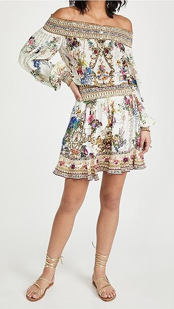 Camilla 露肩短连衣裙