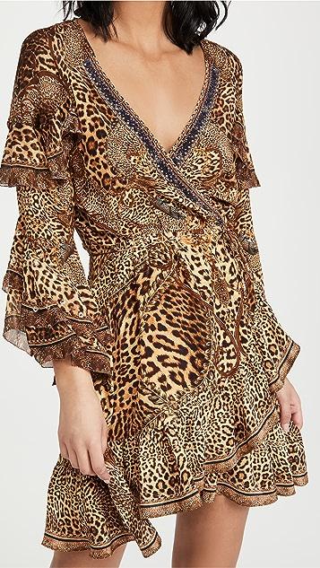 Camilla 裹身短连衣裙