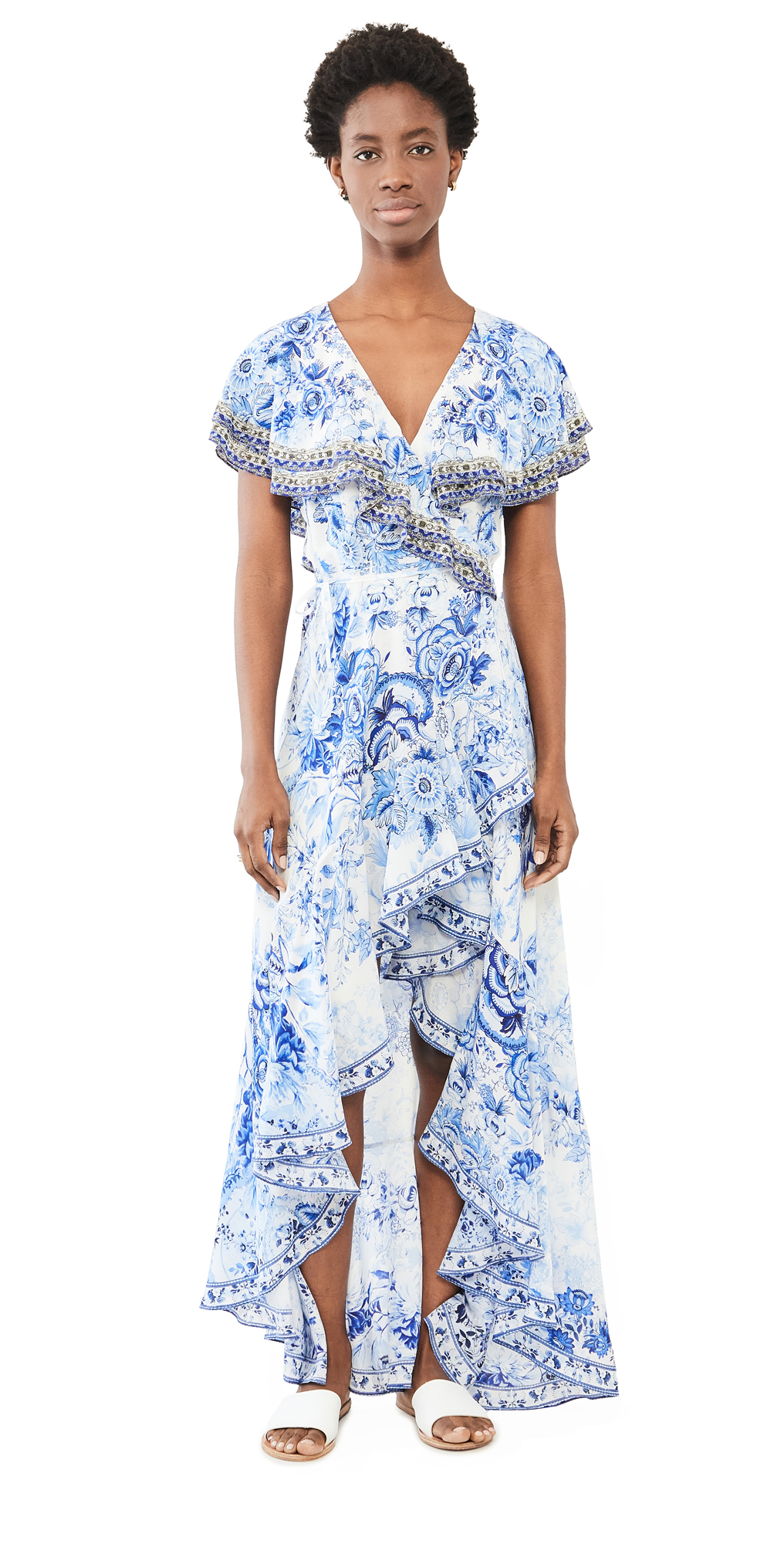 Camilla Frill Sleeve Long Dress