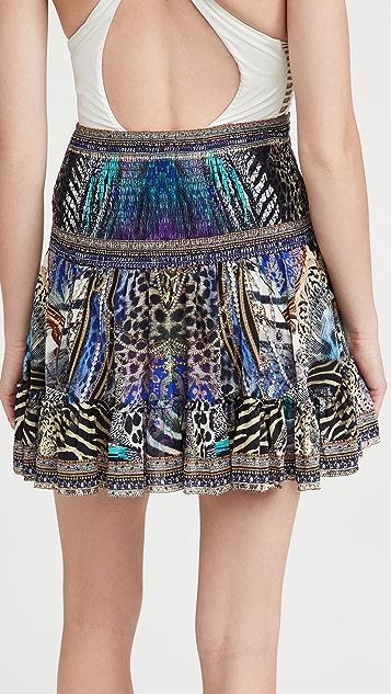 Camilla 系扣褶边半身裙