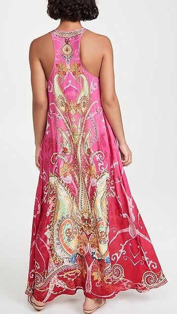 Camilla V Neck Racerback Dress