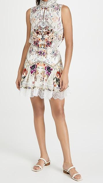 Camilla Miniskirt with Shaped Yoke