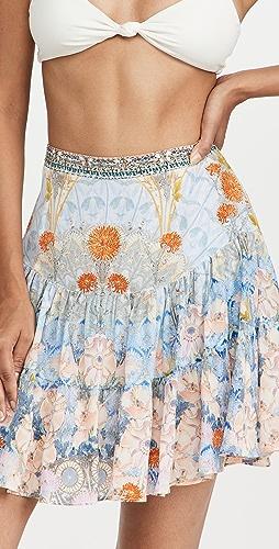 Camilla - 褶皱拼接迷你半身裙