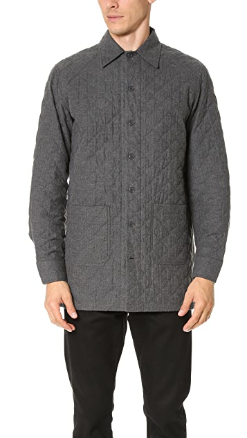 CAMO Victory Quilted Herringbone Shirt Jacket