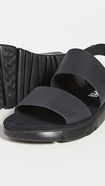 Camper Leather Ankle Strap Sandals