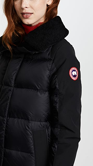 canada goose coat black logo