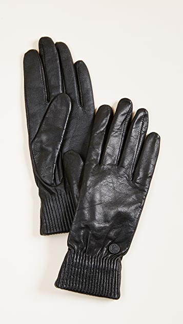 Canada Goose 皮质罗纹高科技手套