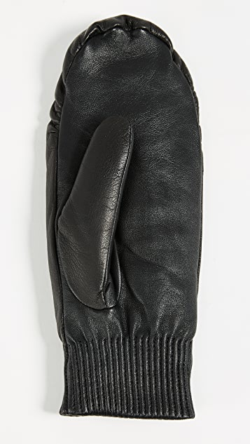 Canada Goose Leather Rib Mittens