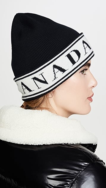 Canada Goose 徽标针织帽