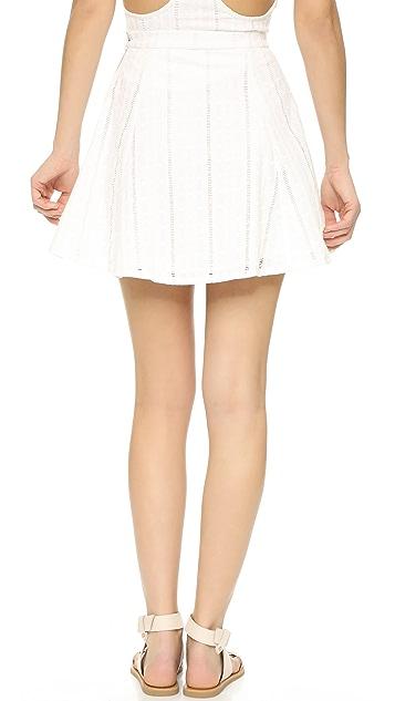 Capulet Button Down Miniskirt