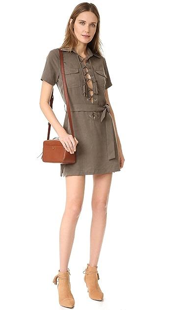 Capulet Lace Up Front Mini Dress