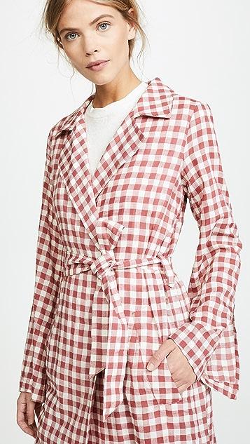Capulet Tati Gingham Trench Coat