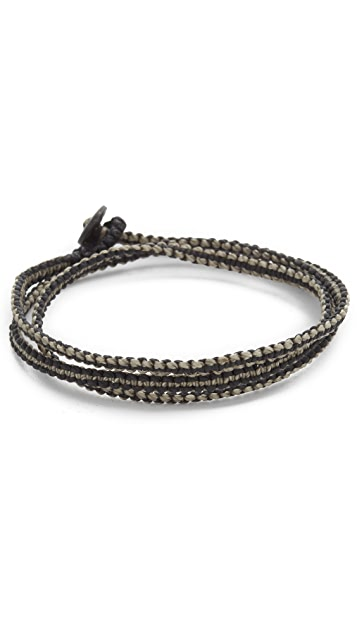 Caputo & Co. Macrame Knotted Triple Wrap Bracelet