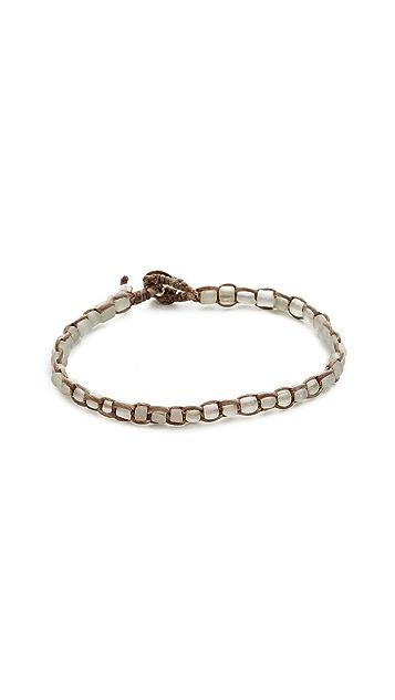 Caputo & Co. Handwoven Recycled Glass Bead Bracelet