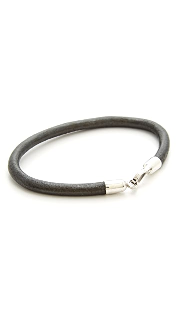Caputo & Co. Leather Cord Bracelet