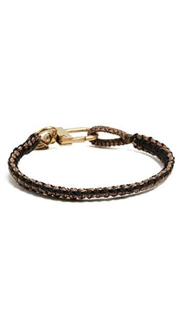 Caputo & Co. Reversible Hand Knotted Bracelet