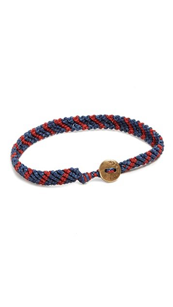 Caputo & Co. Hand Knotted Stripe Bracelet