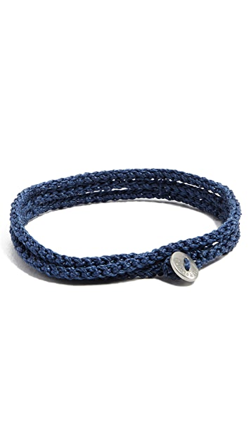 Caputo & Co. Macrame Tubular Triple Wrap Bracelet