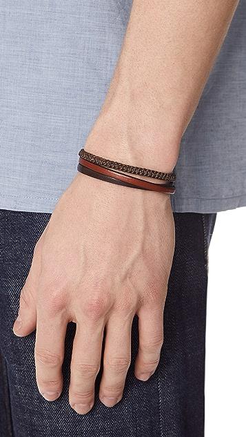 Caputo & Co. Hand Knotted Triple Wrap Bracelet