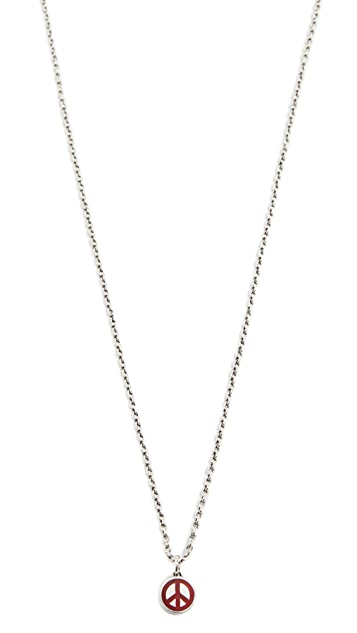 Caputo & Co. Peace Necklace