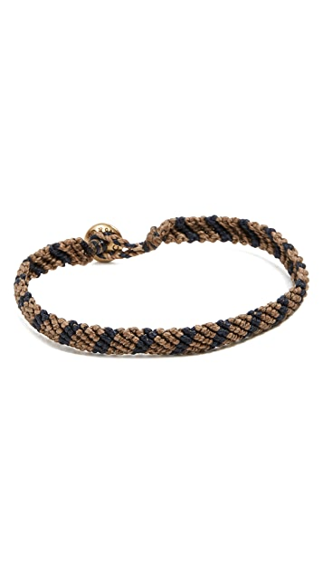 Caputo & Co. Hand-Knotted Stripe Bracelet