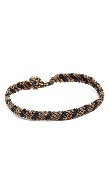 Caputo & Co. Hand-Knotted Stripe Bracelet