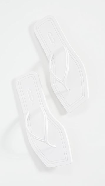 Carlotha Ray Square Toe Flip Flops