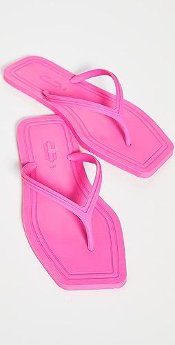 Carlotha Ray - Square Toe Flip Flops