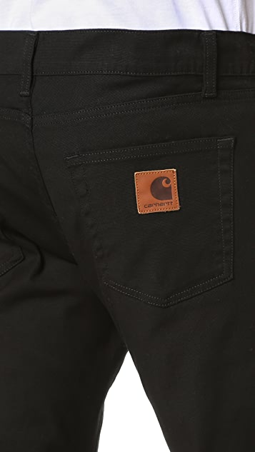 Carhartt WIP Rebel Slim Taper Canvas Jeans