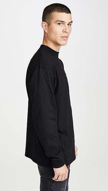 Carhartt WIP Long Sleeve Mock Neck Embroidery Tee