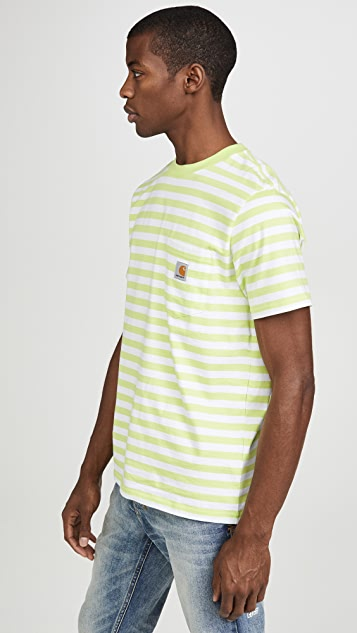 Carhartt WIP Scotty Short Sleeve Striped Pocket Tee
