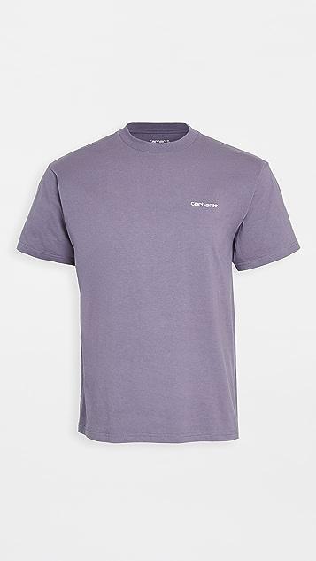 Carhartt WIP Script Embroidery T-Shirt
